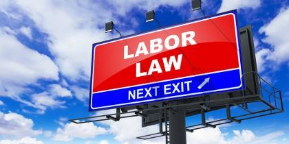 labor law highway signage