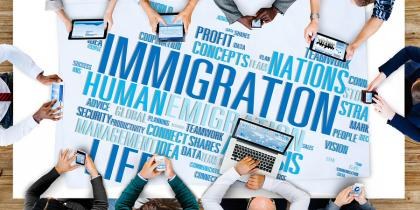immigration concept board, i9 forms, dhs