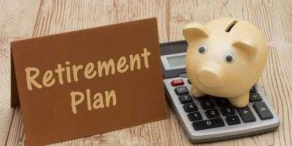 Multiemployer Pension Plan: Piggy Bank with Calculator