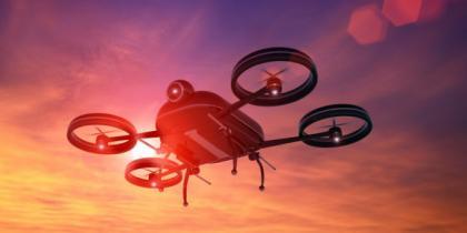 sunset, drone, camera