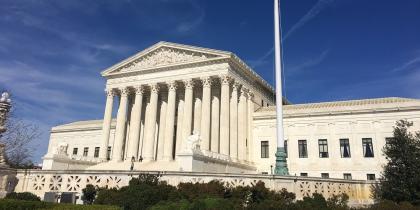 SCOTUS Supreme Court building in Washington DC