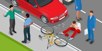bike accident, California