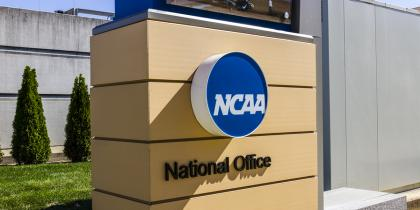 sign, national office, ncaa, grass, building