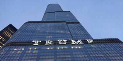 trump, skyscraper, chicago