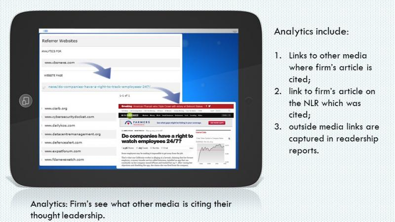 National Law Review Readership Analytics slide 2