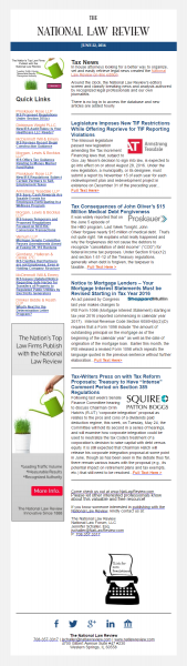 National Law Review e news bulletin