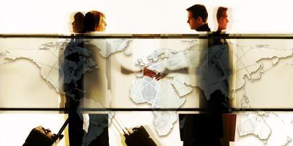 map, business, man, woman