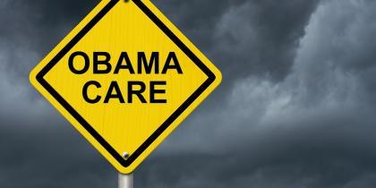Obamacare, caution sign